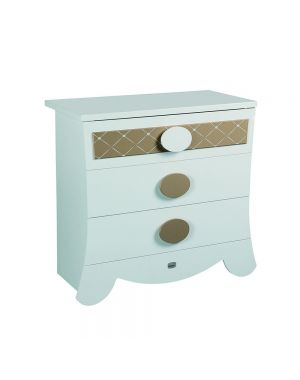 Alexa Chest of Drawers - White and Gold