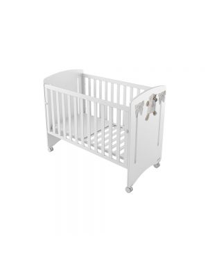 Dou-Dou Cot With Reclining Mattress Base - White