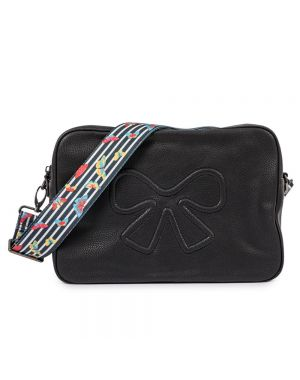 Hoxton Vegan Leather Cross Body Bag Black