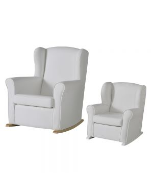 Junior Butaca Chair in White Leatherette
