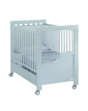 Dolce Luce Cot with Led's and Reclining Mattress Base - White