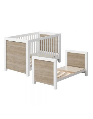 Duke Relax Cotbed - White and Wood
