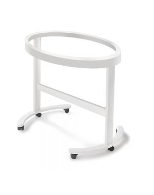 Smart Oval Shaped Cradle Structure - White