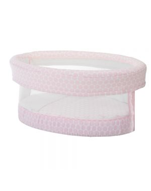 Smart Fresh Bassinet - Pink Dots with Mesh