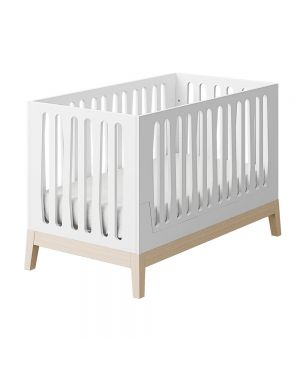 Nubol Cot Convertible into Cotbed - White