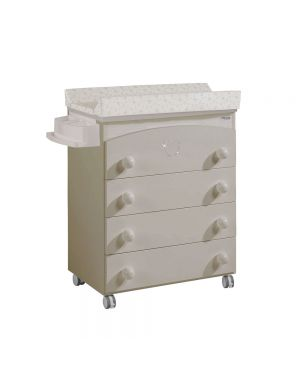 Valeria Baby Changing Unit (With Swarovski Crystals) - Beige