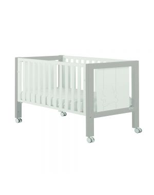 Big Neus Luxe Relax Cotbed (With Swarvoski Elements) - White and Grey
