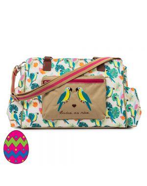Twice As Nice Twin Bag Parrot Cream