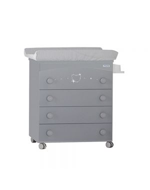 Valeria Baby Changing Unit (With Swarovski Crystals) - Grey