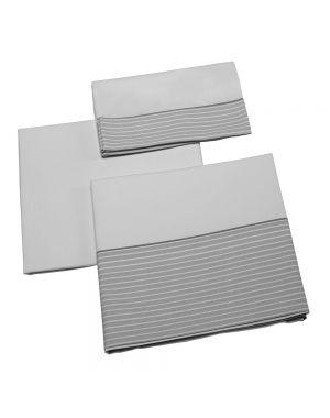 Valeria Set of Cot Sheets (3 piece set) - Grey