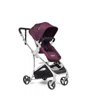 Vida Plus Travel System - Maroon and Silver Frame