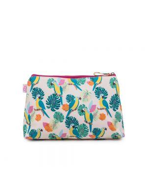 Wash Bag Parrot Cream